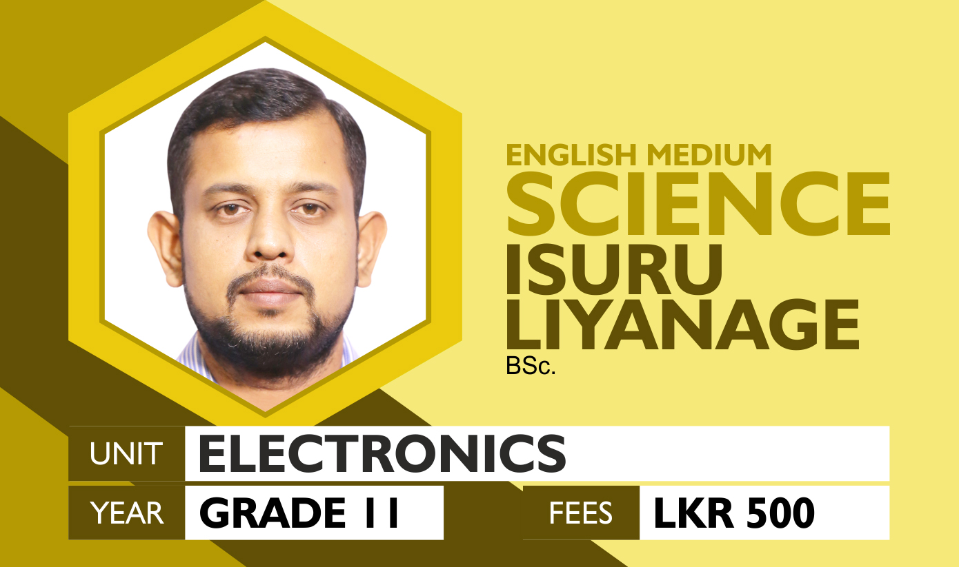 Grade 11 Scienec (English Medium) - Electronics